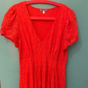 Orange Lacy Anthropologie Dress Sz L